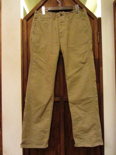 "RRL (ダブルアールエル)REGULATION CHINO TROUSER""GURKHA"