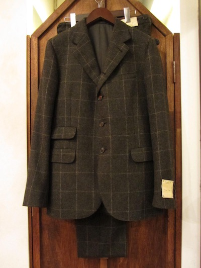 "RRL (ダブルアールエル)WOOL WINDOWPANE BRYANT SUITS""MADE IN ITALY""(ウール4つ釦スーツ)"