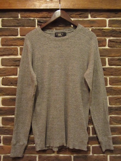 "RRL (ダブルアールエル)CREWNECK THERMAL SHIRTS"" DARK VINTAGE HEATHER"" (サーマルシャツ)"