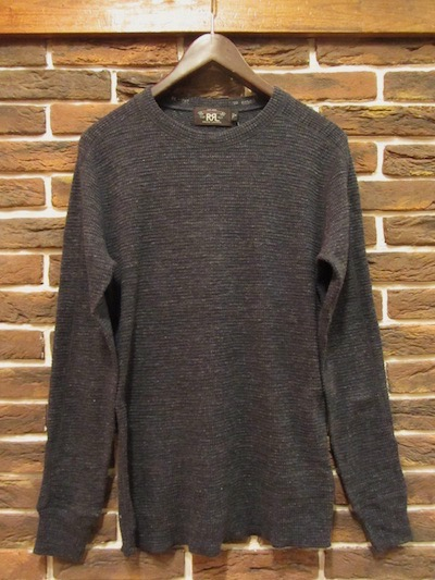 "RRL (ダブルアールエル)CREWNECK THERMAL SHIRTS"" CARBON BLUE HEATHER"" (サーマルシャツ)"