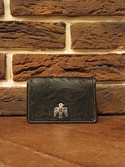 RRL (ダブルアールエル)TOOLED LEATHER CARD WALLET(カードウォレット)