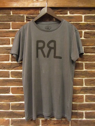 "RRL (ダブルアールエル)NEW LOGO TEE RANCH BLUE "" MADE IN USA""(アメリカ製ロゴTシャツ)"