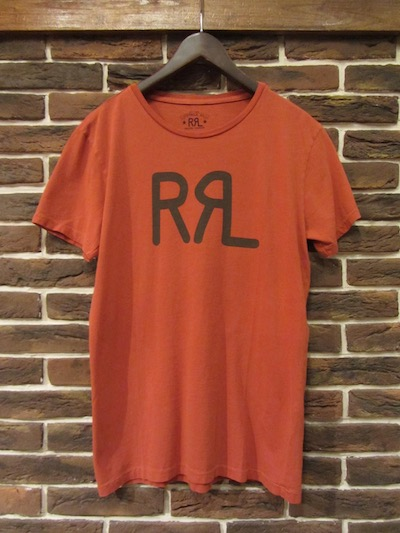 "RRL (ダブルアールエル)NEW LOGO TEE RED"" MADE IN USA""(アメリカ製ロゴTシャツ)"