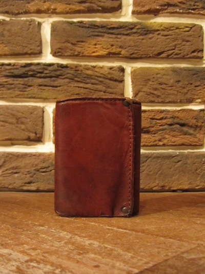 "RRL (ダブルアールエル)TRIFOLD LEATHER WALLET""MADE IN ITALY""(3つ折りレザーウォレット)"