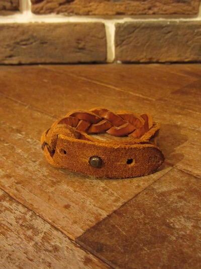 "RRL (ダブルアールエル)BRAIDED LEATHER CUFF""MADE IN ITALY""(レザーブレスレット)"