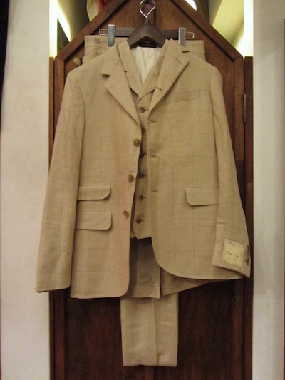 "RRL (ダブルアールエル)SILK×LINEN WINDOWPANE BRYANT SUITS""MADE IN ITALY""(3ピース4つ釦スーツ)"