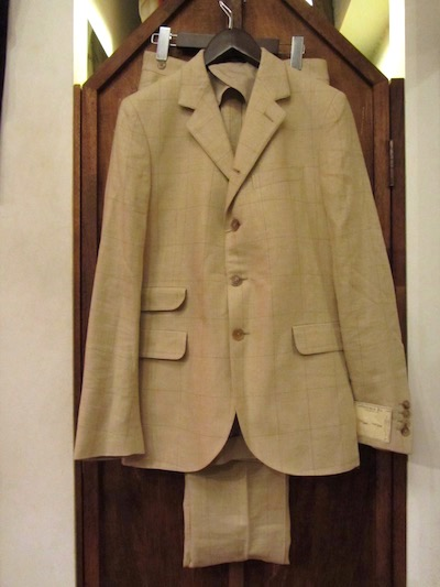 "RRL (ダブルアールエル)SILK×LINEN WINDOWPANE BRYANT SUITS""MADE IN ITALY""(2ピース4つ釦スーツ)"