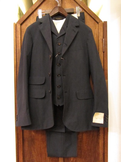 "RRL (ダブルアールエル)INDIGOSTRIPE BRYANT SUITS""MADE IN ITALY""(3ピース4つ釦スーツ)"