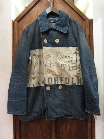 "RRL (ダブルアールエル)MONTAUK POINT DENIM PEACOAT""MADE IN USA""(デニムピーコート)"