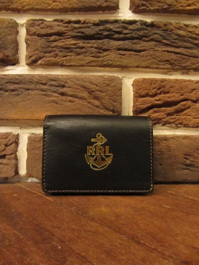 RRL (ダブルアールエル)TUMBLED LEATHER CARD WALLET(スモールウォレット)