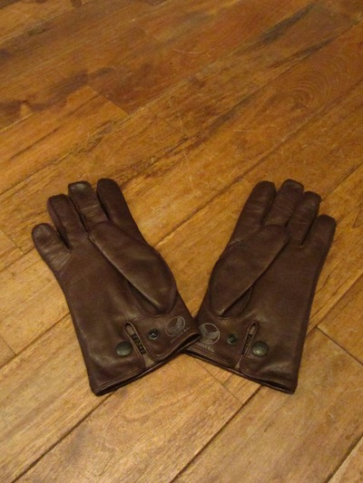 "RRL (ダブルアールエル)LEATHER OFFICERS GLOVE""BROWN""(レザーグローブ)"