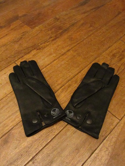 "RRL (ダブルアールエル)LEATHER OFFICERS GLOVE""BLACK""(レザーグローブ)"