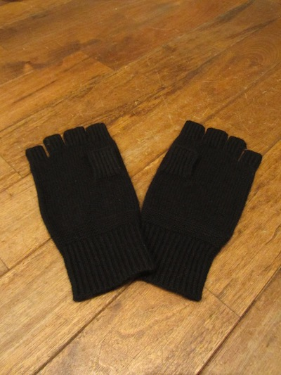 "RRL (ダブルアールエル)""100%CASHMERE"" KNIT GLOVE""BLACK"