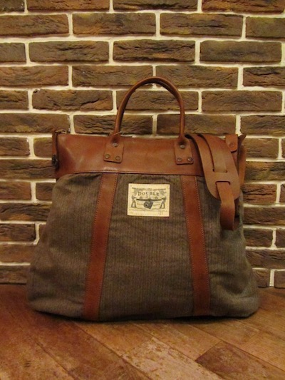 RRL (ダブルアールエル)HEATHER STRIPE×LEATHER 2WAY BAG(2WAYバッグ)