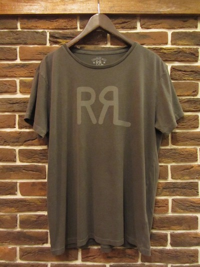 "RRL (ダブルアールエル)LOGO TEE FADED BLACK CANVAS "" MADE IN USA""(アメリカ製ロゴTシャツ)"