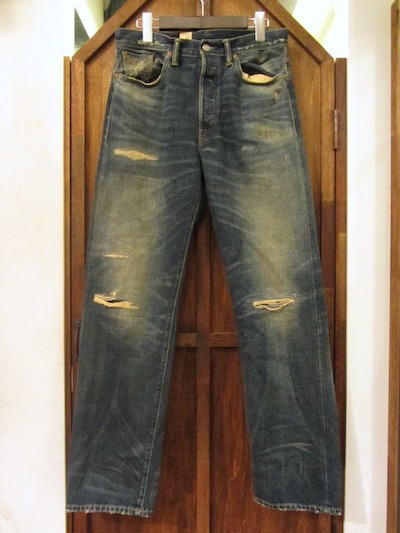 "RRL (ダブルアールエル)VINTAGE 5 POCKET JEAN ""EAST-WESTDENIM REPAIRED YOSEMITE WASH""(リペア5ポケットデニム)"