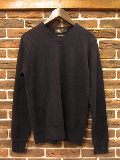 "RRL (ダブルアールエル)V-NECK CASHMERE KNIT""MADE IN ITALY""(Vネックカシミアニット)"