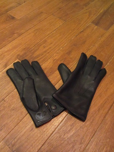 "RRL (ダブルアールエル)LEATHER OFFICERS GLOVE""BLACK"" (レザーグローブ)"