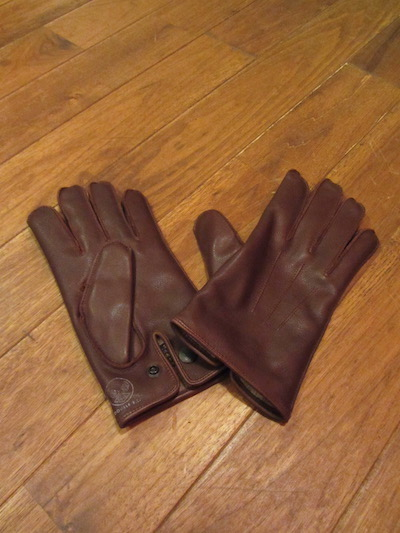 "RRL (ダブルアールエル)LEATHER OFFICERS GLOVE""BROWN"" (レザーグローブ)"