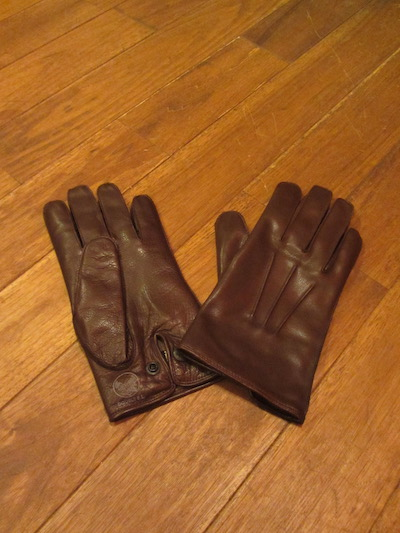 "RRL (ダブルアールエル)LEATHER OFFICERS GLOVE""BROWN"" 17WINTER (レザーグローブ)"