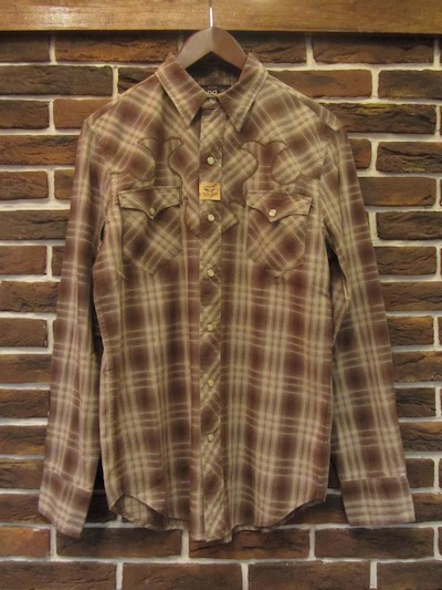 RRL (ダブルアールエル)OMBRE CHECK WESTERN SHIRTS(ウエスタンシャツ)