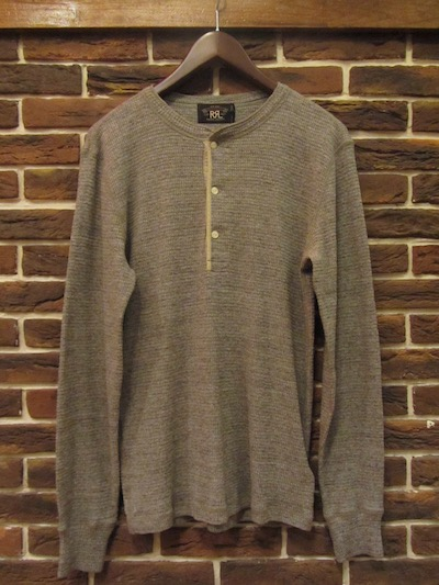 "RRL (ダブルアールエル)HENLEYNECK THERMAL SHIRTS"" DARK VINTAGE HEATHER"" (サーマルシャツ)"