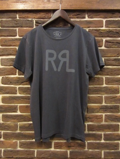 "RRL (ダブルアールエル)LOGO TEE FADED GENTIAN BLUE "" MADE IN USA""(アメリカ製ロゴTシャツ)"
