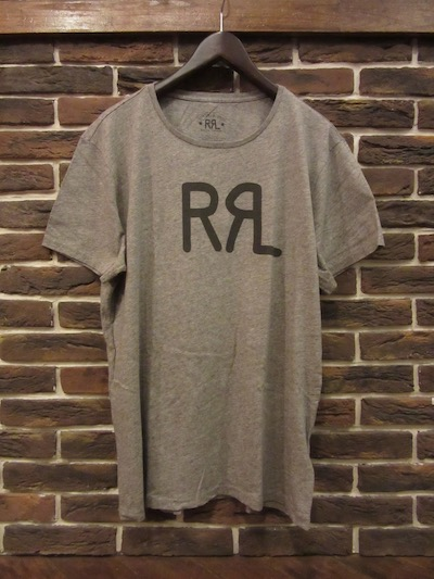 "RRL (ダブルアールエル)LOGO TEE CAMP HEATHER "" MADE IN USA""(アメリカ製ロゴTシャツ)"