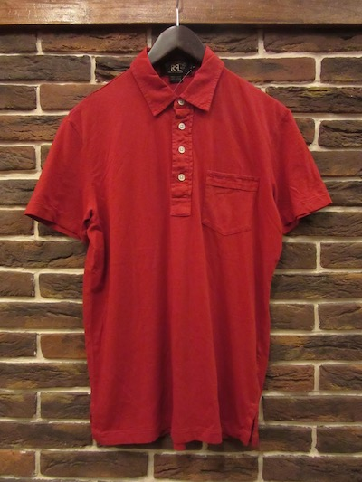 RRL (ダブルアールエル)S/S POCKET POLO SHIRTS RED(ポケットポロシャツ)