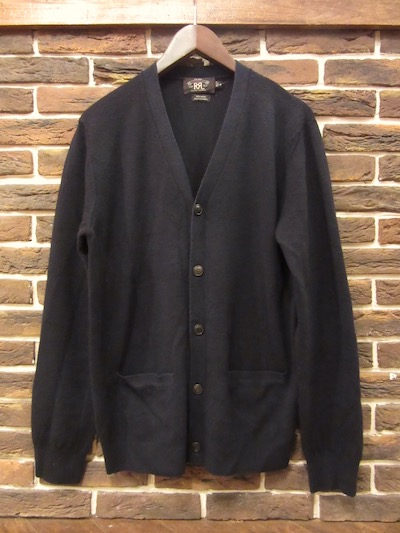 "RRL (ダブルアールエル)V-NECK WOOL×CASHMERE CARDIGANT""MADE IN ITALY""""NAVY"