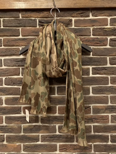 "RRL (ダブルアールエル)FROGSKIN CAMO SCARF""MADE IN ITALY""(カモスカーフ)"