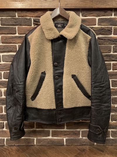 RRL (ダブルアールエル)SHEARLING LEATHER MOTO JACKET