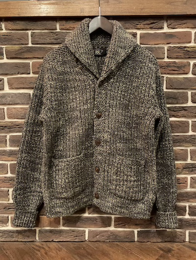 RRL (ダブルアールエル)COTTON×WOOL SHAWL COLLAR CARDIGAN