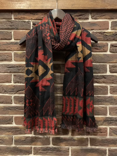 "RRL (ダブルアールエル)BRIGGS SCARF""MADE IN ITALY"""