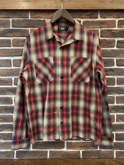"RRL (ダブルアールエル)CAMP SHIRTS""OMBRE PLAID"""