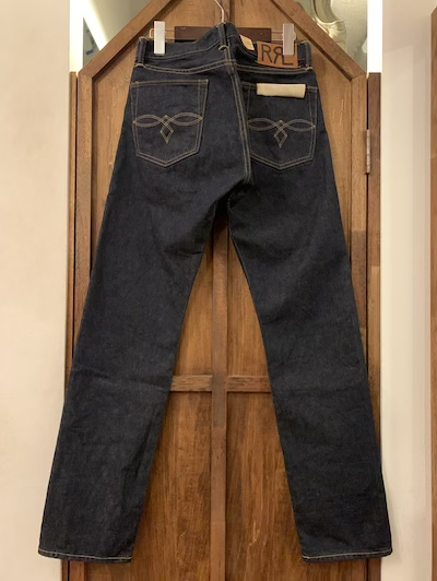 "RRL (ダブルアールエル)LOW STRAIGHT DENIM PANTS""JAPAN WOVEN SELVEDGE DENIM"""