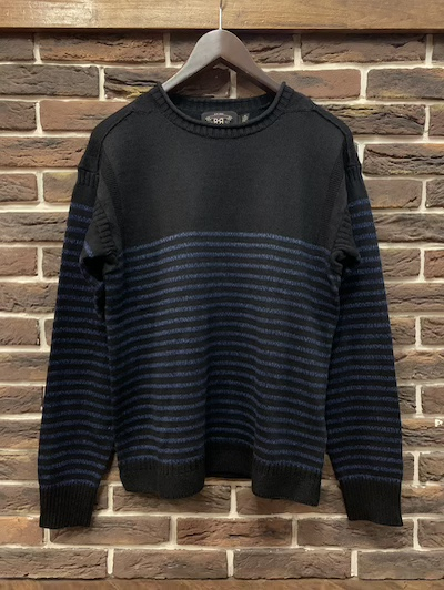 RRL (ダブルアールエル)INDIGO STRIPE GUERNSEY SWEATER
