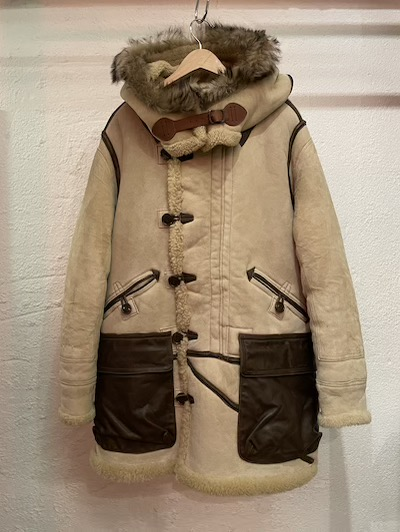 RRL (ダブルアールエル)ARCTIC SHEEP SKIN LEATHER PARKA VINATGE CREAM