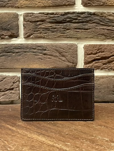 RRL (ダブルアールエル)CROCODILE EMBOSSED LEATHER CARD WALLET(カードウォレット)