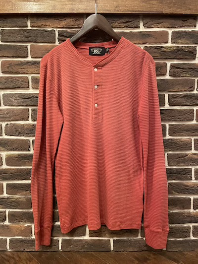 "RRL (ダブルアールエル)HENLEYNECK THERMAL SHIRTS"" TRADING POST RED"" (サーマルシャツ""レッド"")"
